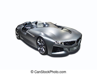 New model sport car isolated front side view