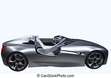 New model sport car isolated