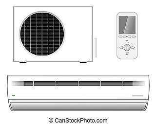 New modern air-conditioner - Vector illustration of new...