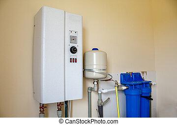 modern boiler for heating water