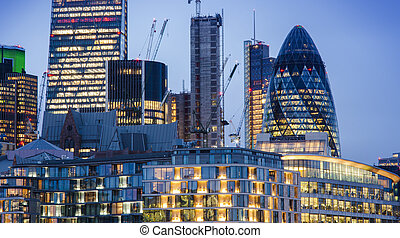 new modern buildings in London city