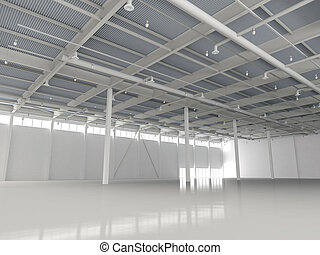 New Modern Empty Storehouse