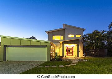 New modern home exterior