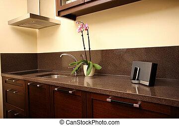 new modern kitchen - new kitchen closeup modern clean and...