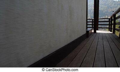 New modern mountain cabin - Steadycam shot of a new modern...