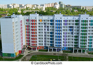 New modern panel house in Zelenograd, Russia