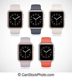 New modern shiny sport smart watches set