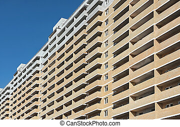 new multi-storey residential building close up
