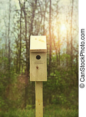 New nesting box set out for Springtime
