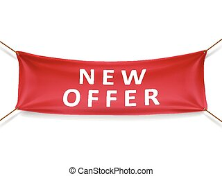 new offer banner isolated over white background