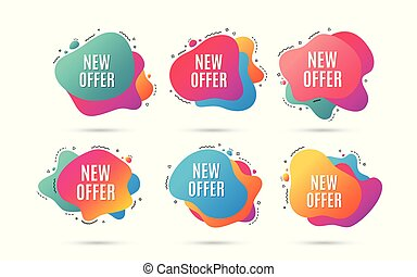 New offer. Special price sign. Vector