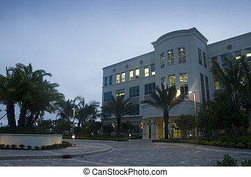New Office Building in Florida in the Early Morning
