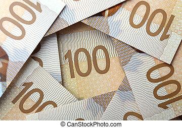 New one hundred dollar bill background