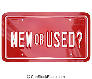 New or Used License Plate Buy Car Truck - A red license...