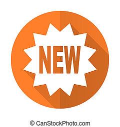 new orange flat icon