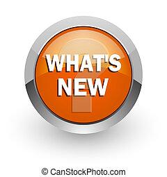new orange glossy web icon