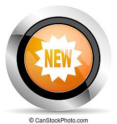 New year 2020 orange icon.