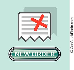 New order Button Icon Vector