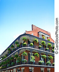 New Orleans Architecture, wrought iron balconies