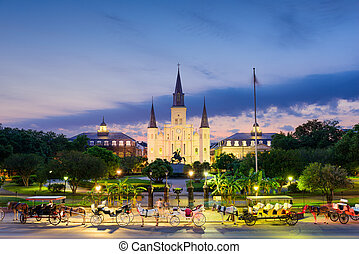 New Orleans at Jackson Square - New Orleans, Louisiana, USA...