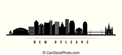 New Orleans city skyline horizontal banner.
