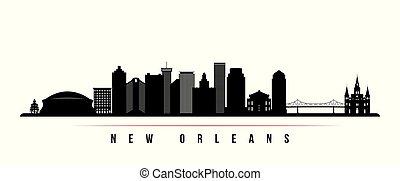 New Orleans city skyline horizontal banner.