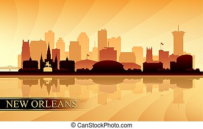 New Orleans city skyline silhouette background