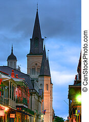 French Quarter - New Orleans French Quarter at dawn during...