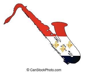 New Orleans Jaz Flag