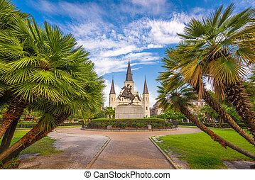 New Orleans, Louisiana, USA at Jackson Square