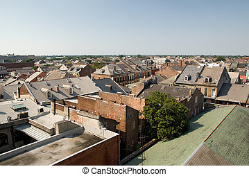 New Orleans Rooftops - interesting architecture seen in the...