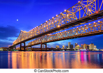 New Orleans Skyline - New Orleans, Louisiana, USA at...