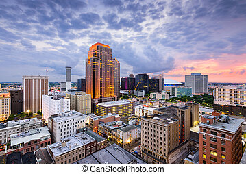 New Orleans Skyline - New Orleans, Louisiana, USA CBD...