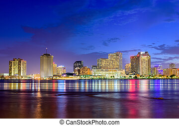 New Orleans Skyline - New Orleans, Louisiana, USA skyline on...