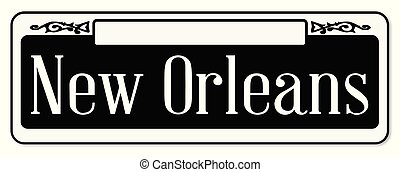 New Orleans Typical Sign