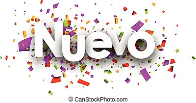New paper banner. - New paper banner with color confetti,...