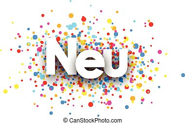 New paper banner. - New paper banner with color drops,...