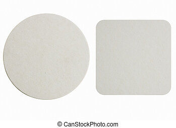 New paper coasters - Image of two new beer coasters isolated...