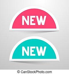 New Paper Labels Set