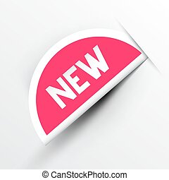 New Paper Pink Label Vector