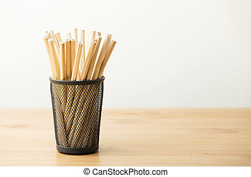 New pencil in pot