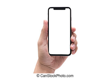 new phone Technology smartphone with blank screen and modern...