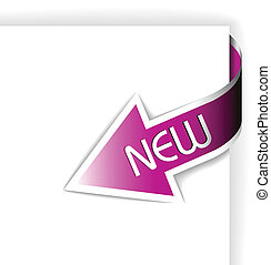 New pink corner ribbon - arrow pointing at the content...