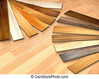 New planks of oak parquet of different colors