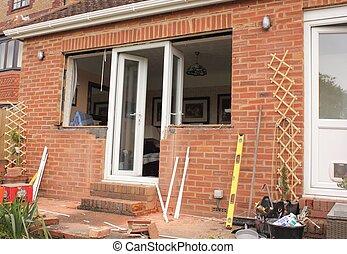 New plastic windows and doors