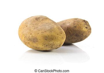 potato - New potato isolated on white background