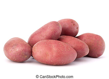 New potato tuber heap isolated on white background cutout