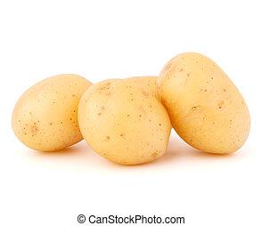 new potato tuber isolated on white background cutout - new...