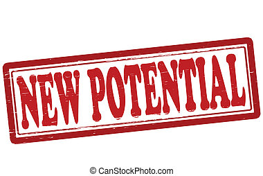 New potential - Stamp with text new potential inside, vector...