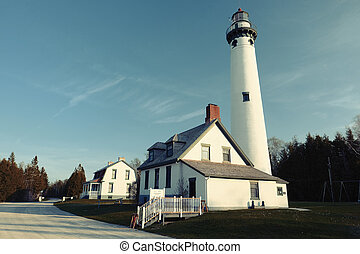 New Presque Isle Lighthouse, built in 1870
